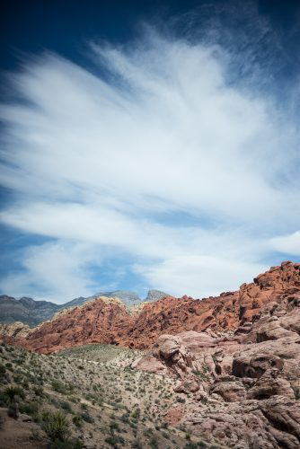 Red Rock Canyon in Nervada, USA. Around 20 mins drive from Las Vegas, this park features huge red and sandstone rocks which are known for their rock climbing.